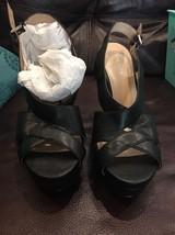 New Nine West Women's Peep Toe Platform Pumps Heels Black 8.5 M Carton Shoes - $35.60