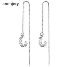 Semi-circular Design Earrings Women 925 Sterling Silver Long Tassel Earr... - $8.06