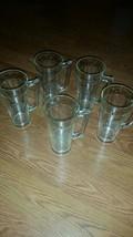 "Vintage Falstaff Beer, Clear Glass Emdossed Mug Stein 7"" Tall - $38.70"