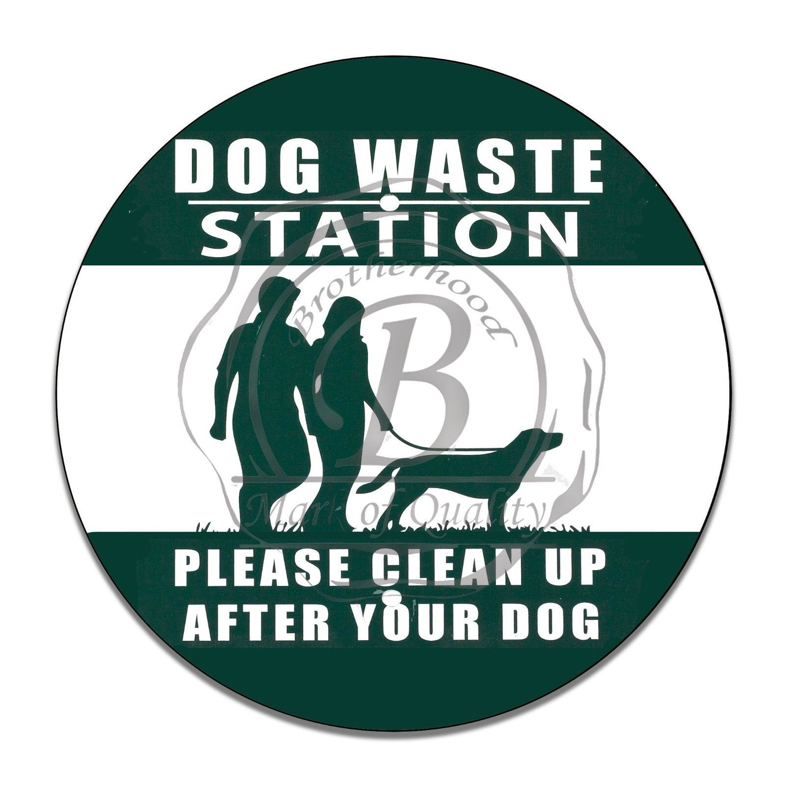 "Primary image for Dog Waste Station Please Clean Up After Your Dog 12"" Circle Aluminum Sign"