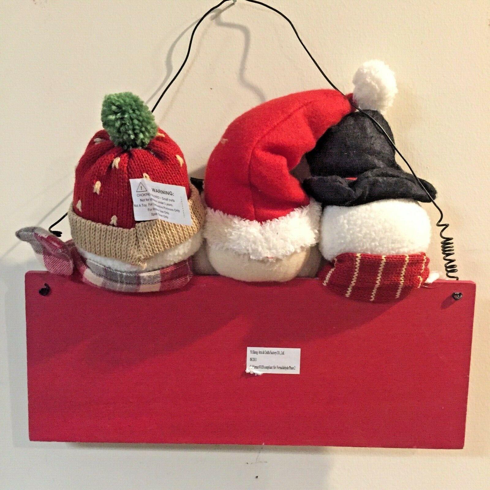 Merry Christmas WALL DECOR Santa Frosty WINTER SNOWMAN Rustic Yi Sheng Arts