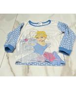 Disney Princess Girls Blue & White Shirt Cinderella Long Sleeve Tshirt S... - $6.76