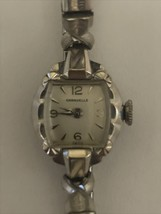 Vintage Caravelle Wind Up Flex Band  Base Metal Bezel ladies swiss watch. - $37.18