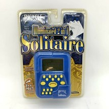 Bicycle Illuminated 2 in 1 Electronic SOLITAIRE Game Handheld Brand New Sealed - $19.75