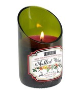 Green Glass Wine Bottle Mulled Cabernet Scented Candle 40 hr Burn Time - $17.77