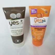 2 PACK Yes to Carrots Nutrition Boosting Kale Mud AND coconut avocado Mask - $11.35