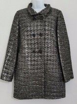J Crew Coat Gray Silver Metallic Womens  - $98.96