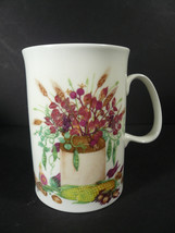 Dunoon Bone China Harvest Festival Floral Mug 10 oz. - England - $11.48