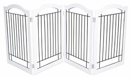 Internet's Best Wire Dog Gate with Arched Top - 4 Panel - 30 Inch Tall P... - $107.06