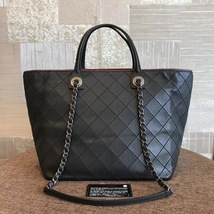 BRAND NEW AUTH CHANEL QUILTED LARGE SHOPPING TOTE BAG SHW  image 2
