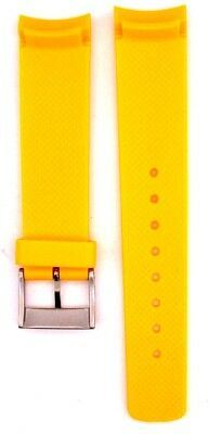 Nautica A14613G 22mm Yellow Diver Rubber Watch Strap Band Anti Allergic NTC105