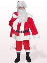 Red Santa Open Face Plush Mascot Costume christmas - $39.99