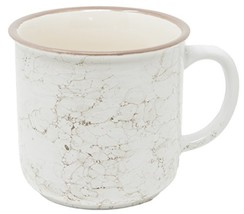 Funny Guy Mugs Speckled Ceramic Campfire Mug, Snow Marble, 13 oz - $20.04
