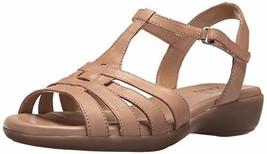 Naturalizer Women's Nanci Flat Sandal, Beige, 9 N US - $70.60