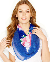 Steve Madden Mixed Media Infinity Loop Scarf Blue $30 - NWT - $19.50