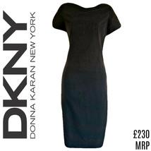 DKNY Dress Grey Shift Charcoal Donna Karan New York Midi Mid Size Small - $54.84