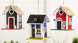 Hanging Cottage Design Birdhouse - Painted Pine & Plywood 3 Designs