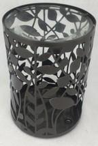 Bath & and Body Works Gray Metal Slatkin Oil Warmer Vines Leaf Leaves De... - $11.68