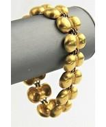 "7.5"" VINTAGE ESTATE Jewelry MATTE GOLD PLATE TRIBAL BOHO CHIC BRACELET - $30.00"
