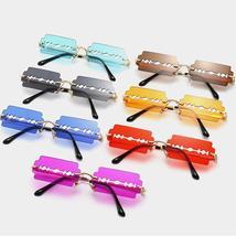 Hollow Steampunk Sunglasses Women Vintage Rimless Sunglasses Men Small Frames Re image 6