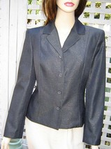 EXPRESS Black/Metallic Gold Lined Dress Jacket (5/6) NEW - $29.30