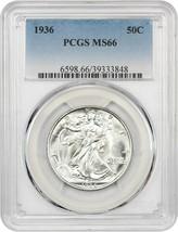 1936 50c PCGS MS66 - Beautiful Gem - Walking Liberty Half Dollar - Beaut... - $266.75