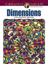 Creative Haven Dimensions Coloring Book (Adult Coloring) [Paperback] Wik... - $8.42