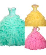 Prom Gowns Quinceanera Formal Dressses Evening Wedding Party Sweet 16 Dress - £83.62 GBP