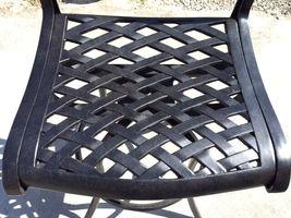 Patio Bar Stools Set of 2 Swivel Outdoor Furniture Cast Aluminum Sunbrella Seats image 3