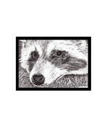 Raccoon Pen and Ink Print - $24.00