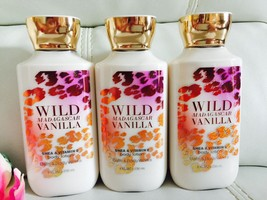 3 Bath Body Works Wild Madagascar  Vitamin Shea Body Lotion Full Size Lo... - $24.45