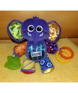 Lamaze Baby Colorful Crinkle & Squeak Purple EDDIE Elephant Plush Activi... - $7.69