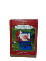 2001 Hallmark Christmas Tree Ornament Laptop with Santa - $12.73