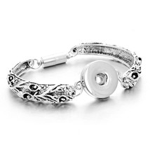 Silver Color Snap Bracelet Bangles 18mm Snap Buttons Jewelry 30 Designs Colorful - $10.29