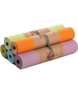 Honeycomb Yoga Mat Thick Non Slip Breathability Fitness Gym Sports Pilat... - £34.15 GBP