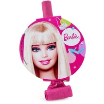 Barbie All Dolled Up Favor Blow Outs 8 Per Package Birthday Party Suppli... - $5.10