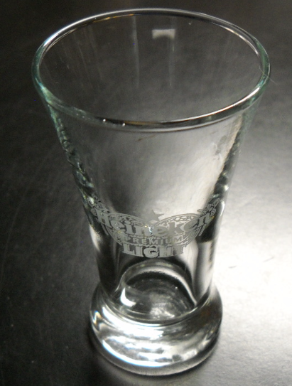Heineken Premium Light Shot Glass Miniature Beer Glass Etched Heineken Logo