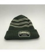 Guinness Winter Hat Argyle Striped Embroidered Green Grey Beanie - $9.19