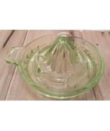 Vintage Uranium Juicer Reamer Depression Vaseline Glass Tab Handle Pour ... - $14.39