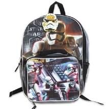 "Star Wars Storm Trooper Backpack w/Lunch Bag -16""H - $13.99"