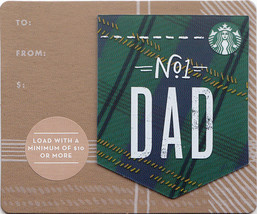 Starbucks 2018 Dad Mini Collectible Gift Card New No Value - $1.99