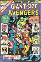Giant-Size Avengers Comic Book #5, Marvel Group 1975 FINE+ - $18.30