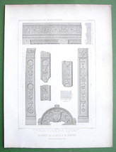ARCHITECTURE : Paris Chapel of Commines Various Fragments - $10.80