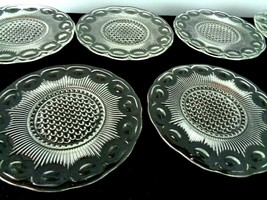 7  Rare Vintage Manhattan US Glass Tiffin Collins 1910 Plates - $19.99