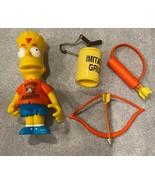 Simpsons Kamp Krusty Bart World of Springfield Interactive Figure W/ Access - $24.70