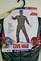 Boy's Halloween Costume BLACK PANTHER Civil War Marvel Rubies Small 4/6 NEW - $19.99