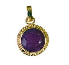 inviting Indian Ruby Gold Plated Red Pendant Fashion exporter US - $5.63