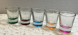 Vintage Anchor Hocking Shot Glasses Assorted Colors 1.5 oz. Retro Barware - $9.95