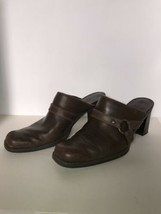 "What's What By Aerosoles Women Sz 8 M Brown Leather 3"" Heel SlipOn Shoe Boots - $12.86"