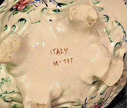 Vintage ceramic bowl with floral design Italy M-707 AA19-1405 image 4